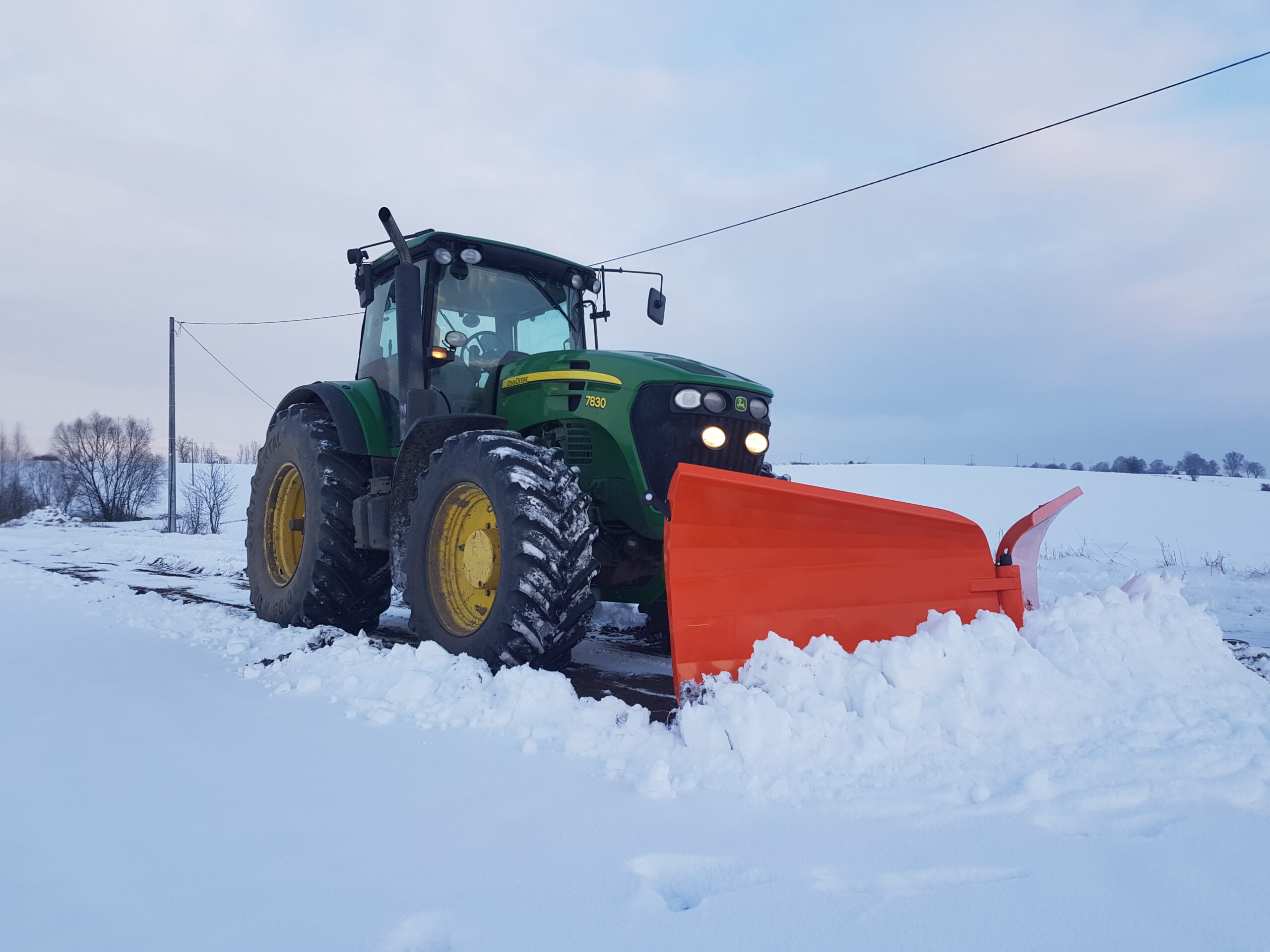 pług do śniegu Yeti metal-plast