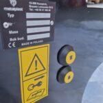 Przyciski sterowania podnośnikiem hydraulicznym